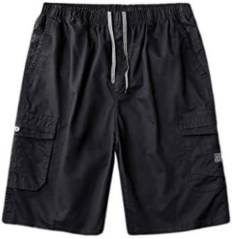 LF- 夏のメンズショートパンツコットンルーズ大きいサイズのメンズカジュアル五点パンツメンズショートパンツを着用してください 快適な (Color : Black, Size : 2XL)