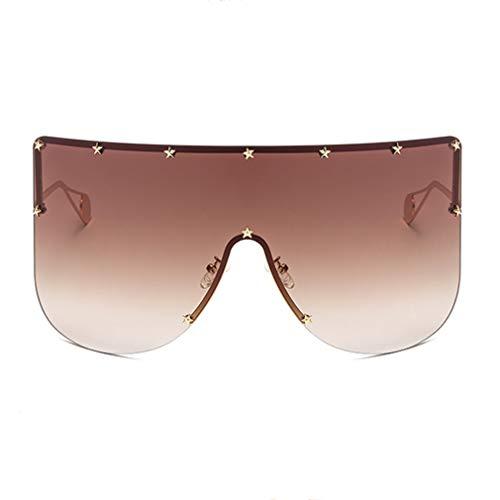 (Armear XL Oversized Brown Lens Futuristic Shield Sunglasses Huge Visor Mask)