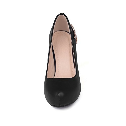 Toe and Skidding Platform Spikes with Black Stilettos Women's Microfiber Anti WeenFashion Pumps Pointed Bottom cR8qzXwHP
