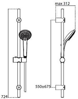 Ideal Standard B9508 sistema de ducha Sistemas de ducha
