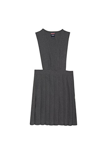Price comparison product image French Toast Little Girls' V-Neck Pleated Jumper,  Grey,  6