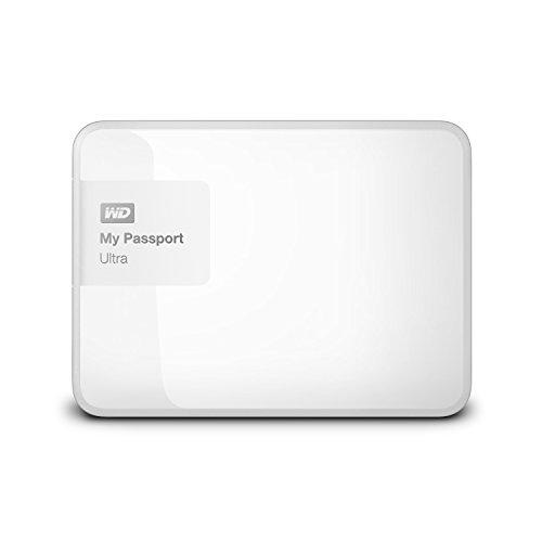 WD 4TB White My Passport Ultra Portable External Hard Drive - USB 3.0 - WDBBKD0040BWT-NESN [Old Model]
