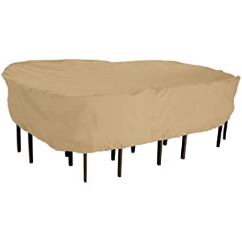 This Item Classic Accessories Terrazzo Rectangular/Oval Patio Table U0026 Chair  Set Cover   All Weather Protection Outdoor Furniture Cover, Large (58262 EC)