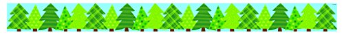 Creative Teaching Press Borders Patterned Pine Trees (Woodland Friends) Border, Ctp (83861) (Pine Border Tree)