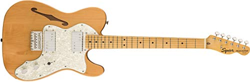 Squier by Fender Classic Vibe 70's Telecaster Thinline Electric Guitar - Maple - Natural