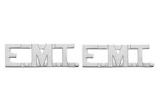 EMT E.MT. EMERGENCY MEDICAL TECHNICIAN Paramedic Collar Lapel Pins Brass Insignia Emblem 1/2