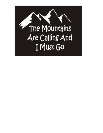 Nice Colour (RT160 The Mountains Are Calling And I Must Go - 2pack Custom Decal - The Mountains - Sticker - Window Decal - Perfect for a Gift - Car Decor - Gifts - Have a Nice Day - Funny -Color:White(4.5