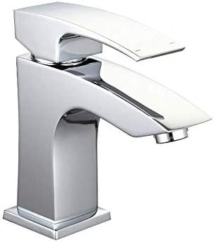 ZY-YY 流域水栓キッチン浴室の蛇口プルアップシングルハンドルスクエアクロームカウンターマウント流域の蛇口164 * 110ミリメートルクローム
