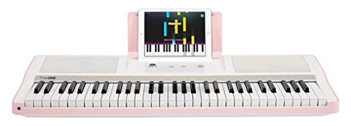 The ONE Smart Piano Keyboard, 61-Key Portable Keyboard, The ONE Light Keyboard, Electric MIDI Keyboard, Pink