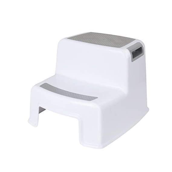 PAVITR SHOP Kid's and Adult's Plastic Western Toilet Portable Sturdy Squat Stool for Potty Training and 2 Step Design