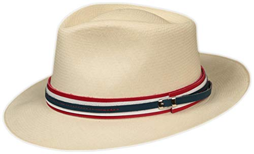 Leather Hat Band- Red White Blue, Replacement Decorative Strap for Fedora, Felt Panama or Straw Hats (Red White Blue)