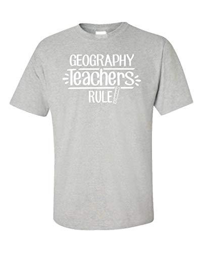 The Stuff Hut Geography Teachers Rule! - Unisex T-Shirt Ash Grey