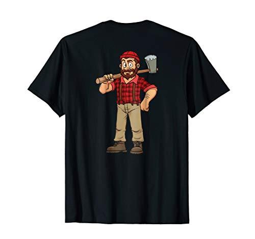 Lumberjack T-Shirt Hipster Mountain Man Flannel Axe Tee