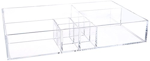 BathSense Acrylic Collection Bathroom Sliding Drawer Makeup & Skin Care Product Organizer, Transparent by BathSense
