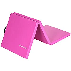 """Well-Being-Matters 31JjUEY7-YL._SS300_ BalanceFrom 2"""" Thick Tri-Fold Folding Exercise Mat with Carrying Handles for MMA, Gymnastics and Home Gym Protective Flooring"""