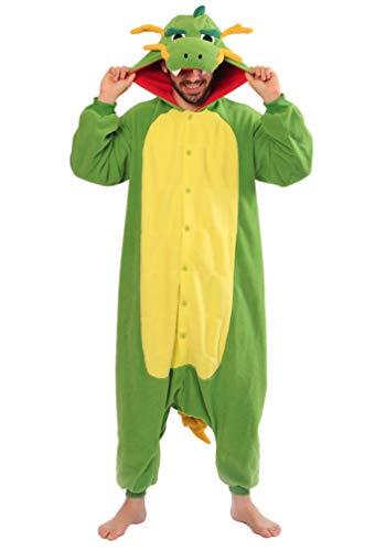 (SAZAC Dragon Kigurumi Onesie Jumpsuit Costume - Regular Adult)