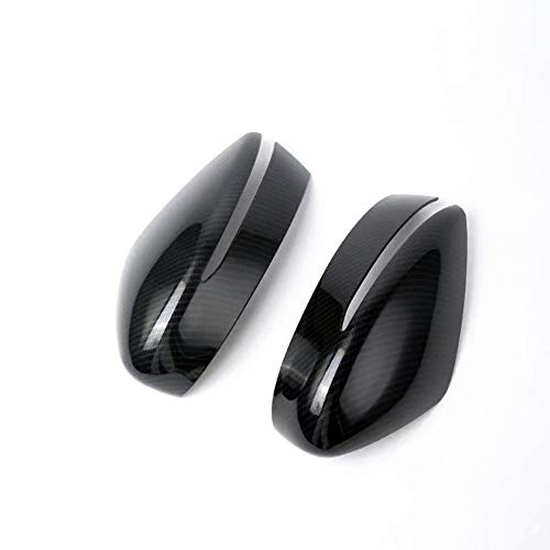 HIGH FLYING (Only fits The car with Turn Signal Lights 2PCS ABS Car Side Door Rear View Mirror Cover Cap Trim Fits for Nissan Leaf 2018 2019, Kicks 2016-2018 (Carbon ()