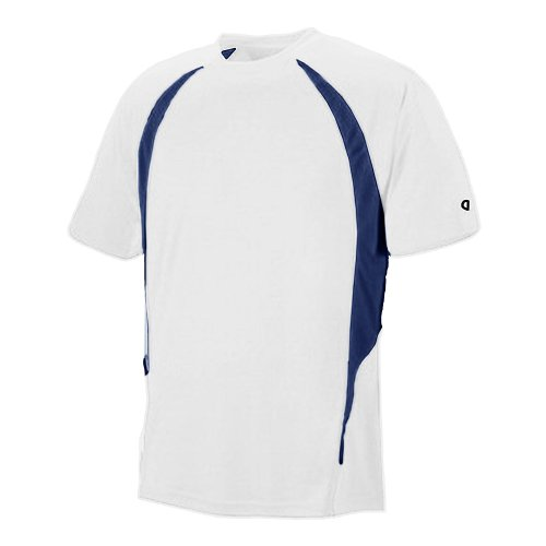 - Champion Adult Double Dry Elevation T-Shirt_White/Vibe Navy_3XL