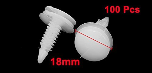 100 Clips Panel PC DE 8 mm Diámetro del agujero remaches Sujetador de coches de parachoques Pin Blanco: Amazon.com: Industrial & Scientific