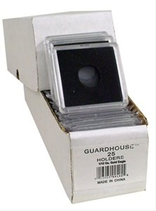 2×2 Coin Holders Box of 25 Guardhouse Snaplocks for 1/10 Ounce Gold Eagles