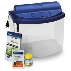 Aquarium 5 Gallon Mini Bow - Aqueon Mini Bow 5 Gallon Desktop Aquarium Kit