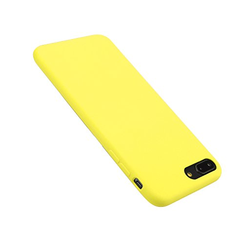 iPhone 7/8 Case Liquid Silicone Gel Rubber Case,Full Body Protection Shockproof Cover Case with Soft Microfiber Cloth Lining Cushion for Apple iPhone 7/8 (Yellow)