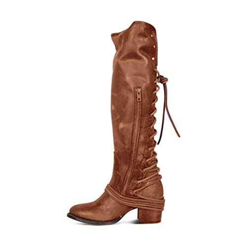 (Women's Winter High Heel Long Boots, Bandage High Ladies Boots, Knee High Boots, Sunsee Grill)