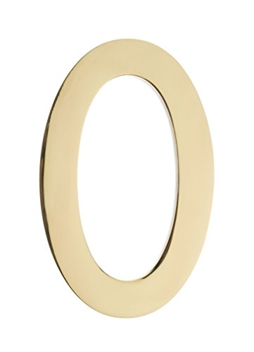Architectural Mailboxes 3585PB-0  5 in. Brass Floating House Number 0, Polished Brass by ARCHITECTURAL MAILBOXES