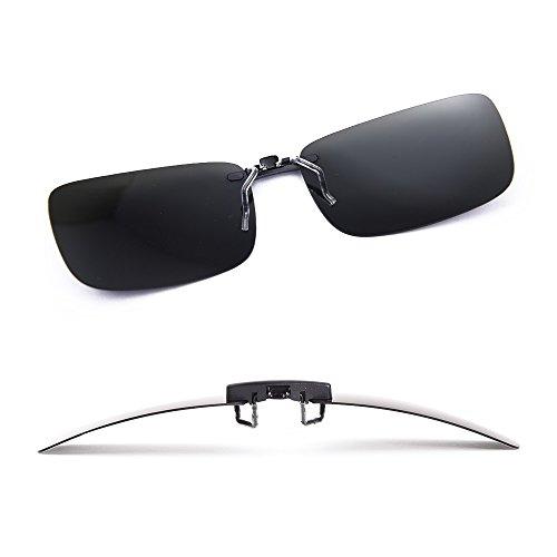 bebc7df3d54 LUFF Polarized Unisex Clip on Sunglasses for Prescription Eyeglasses-Good  Clip Style Sunglasses for Myopia