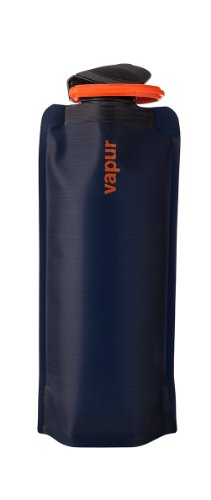 Vapur 10211 - Eclipse 0.7L Foldable Flexible Water Bottle w/ Carabiner (Night Blue)