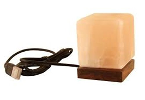 USB Powered LED Mini Himalayan Natural Crystal Salt Lamp