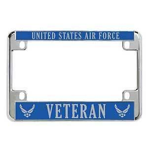 United States AIR Force Veteran Military Metal Motorcycle License Plate Frame Perfect for Men Women Car garadge Decor (Honda Hsv)