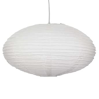 16inch White Paper Lantern With Saturn Design Ribbing Amazonco