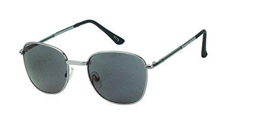 Chic-Net Vintage Sonnenbrille Bügelkappen bunt Streifen eckig 400UV Metallrahmen schwarz