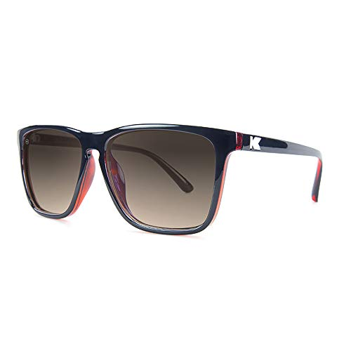 Knockaround Fast Lanes Polarized Sunglasses With Black And Red Frames/Brown Lenses