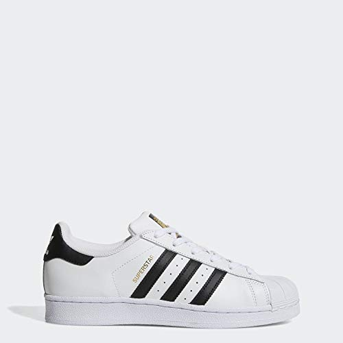 adidas Originals Women's Superstar Sneaker, Black/White, 9 (Womens Addidas Tennis Shoe)