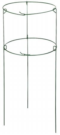 "Gardman R750 Double Hoop Plant Support Ring, 16"" Wide x 36"" High, 3 Legs"