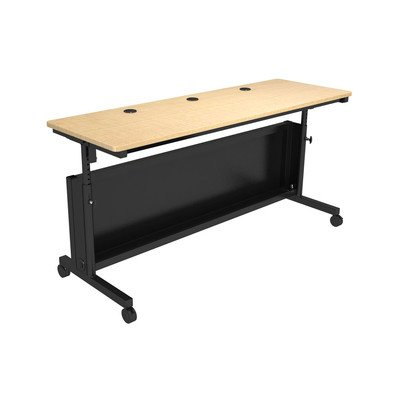 "UPC 814872028600, Junction Training Table Size: 36"" H x 72"" W x 24"" D, Color: Black / Maple"