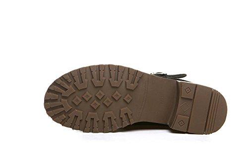 Stivali Stivali Ragazze Scarpe asdf4xxa Alla giornaliero Donna camoscio Inverno 35 120W caviglia Khaki aYUqTxqd