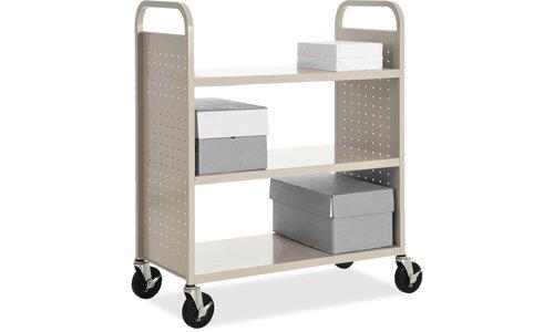 Lorell Flat Shelf Book Cart by Lorell