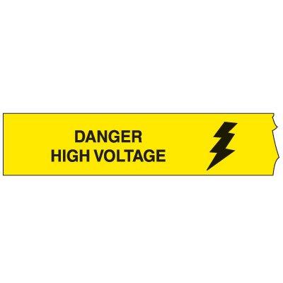 3-Mil Barricade Tape - Danger High Voltage 3