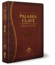Biblia RVR60 Palabra Clave Estudio Diccionario Hebreo y Griego Imitacion Piel Marron