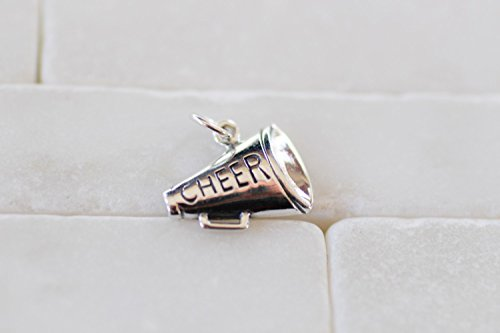 m - Sterling Silver Cheer Charm - Megaphone Charm - Cheerleader Jewelry - Cheerleader Charm - Cheerleading - Cheer Charm (Cheerleading Sterling Silver Bracelets)