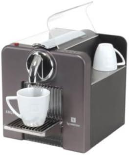 Krups Nespresso Le Cube titanio cafetera Nespresso titanio: Amazon ...