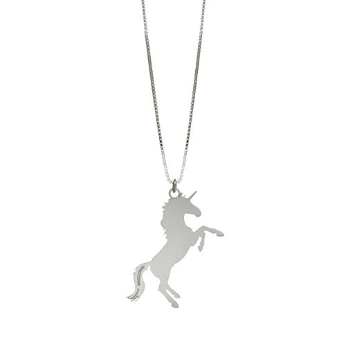 Handmade Silver Long Unicorn Necklace for Women, Unicorn Jewelry, Fairy Tale Necklace, Fantasy Necklace, Animal Necklace