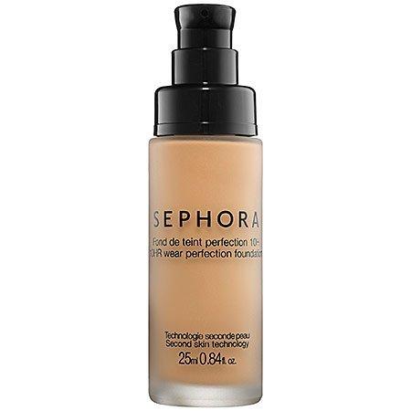 Sephora Lightweight Foundation - 10 Hr Wear Perfection Foundation Sephora 0.84 Oz Medium Peach (Y) | NEW