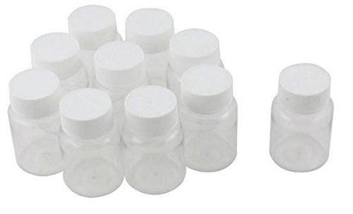 12 PCS 80ML 2.7oz Portable Empty Plastic Bottles Pill Solid Powder Medicine Chemical Bottles Pill Tablet Holder Storage Container Case Box