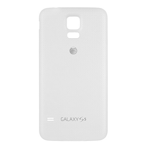 OEM Samsung Galaxy S5 SM-G900A AT&T Battery Door Back Cover Replacement - Shimmery White