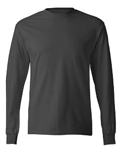 Hanes TAGLESS 6.1 Long Sleeve T-Shirt, XL-Smoke Gray
