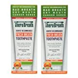 TheraBreath Dentist Recommended Fresh Breath Dry Mouth Toothpaste, Mild Mint, 4 Ounce (Pack of 2) Sold By HERO24HOUR Thank You